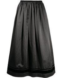 Uma Wang Aライン フレアスカート - ブラック