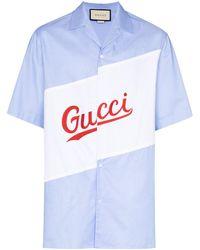 Gucci - オーバーサイズ ロゴ ボウリングシャツ - Lyst