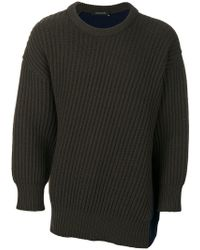 Cedric Charlier - Colour-block Sweater - Lyst