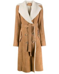 DESA NINETEENSEVENTYTWO Shearling-lined Trench Coat - Brown