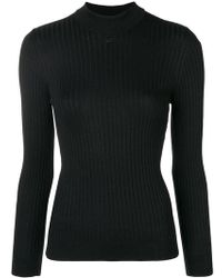 Courreges - High Neck Fitted Sweater - Lyst