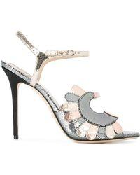 Paula Cademartori - Metallic Stiletto Sandals - Lyst