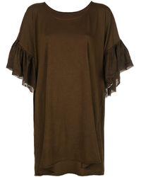 Uma Wang Oversized T-shirt - Brown