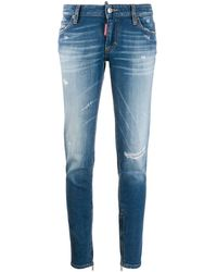 DSquared² - Distressed Skinny Jeans - Lyst