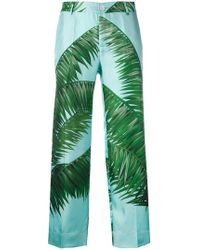 F.R.S For Restless Sleepers - Palm Print Loose Fit Trousers - Lyst