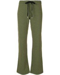 Marni Pantaloni Stampati - Green
