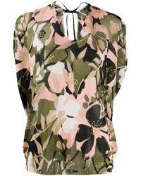 Liu Jo Floral Knit Top - Green