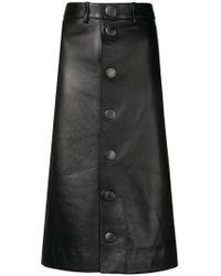 Balenciaga - Lambskin Pencil Skirt - Lyst