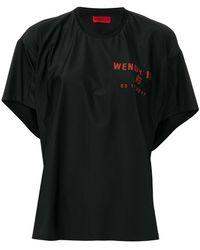 Wendy Jim - Camiseta holgada con logo - Lyst