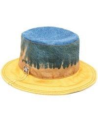 Alberta Ferretti Tie-dye Bucket Hat - Blue