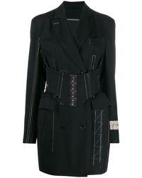 Ruban ジャケットドレス - ブラック