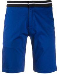 Karl Lagerfeld ストライプ ショートパンツ - ブルー