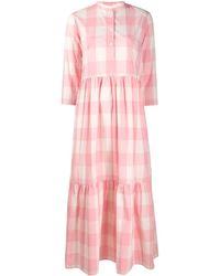 Woolrich チェック シャツドレス - ピンク