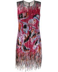 Emilio Pucci Декорированное Платье С Пайетками И Бахромой - Розовый