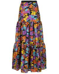 Mary Katrantzou - Floral flared maxi skirt - Lyst