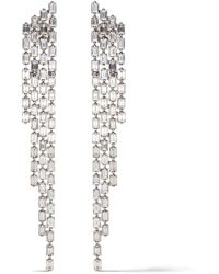 AS29 - 18kt White Gold Diamond Baguette 4-line Cascade Earrings - Lyst