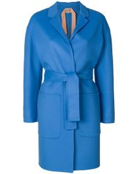 N°21 - Belted Wrap-over Coat - Lyst
