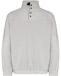 GR10K Alpha Polartec High-neck Sweatshirt - Grey