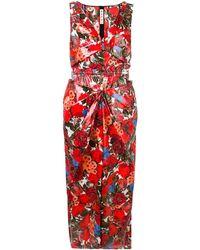Marni Vestido ajustado con estampado floral - Rojo