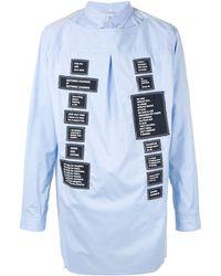 TAKAHIROMIYASHITA TheSoloist. Graphic Sleeve Shirt - Blue