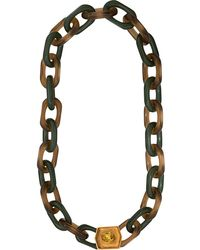 Marni Verzierte Halskette - Rot