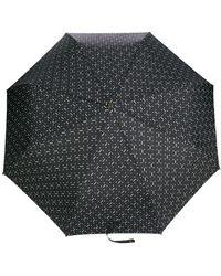 Moschino Paraplu Met Logoprint - Zwart