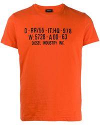 DIESEL T-shirt Met Print - Oranje