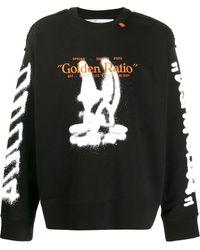 Off-White c/o Virgil Abloh Sweater Met Print - Zwart