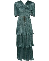 Peter Pilotto Layered Metallic Jumpsuit - Green
