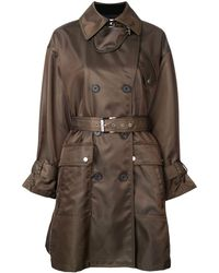Barbara Bui Double breasted belted coat - Vert