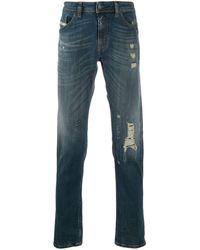 DIESEL Jeans con effetto vissuto - Blu