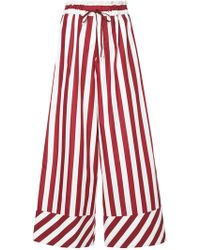 G.v.g.v - Striped Drawstring Wide Leg Trousers - Lyst