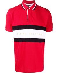 Tommy Hilfiger Gestreept Poloshirt - Rood