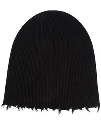Helmut Lang Fray Edge Beanie - Black