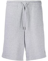 Daily Paper Logo-embroidered Track Shorts - Grey