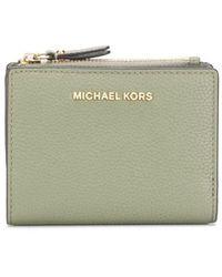 MICHAEL Michael Kors Jet Set Pebbled-effect Wallet - Green
