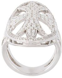 Loree Rodkin - Oval Gothic Cigar Bank Diamond Ring - Lyst