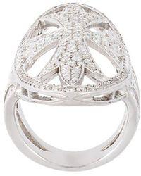 Loree Rodkin - Oval Gothic Cigar Bank Diamond Ring - Lyst