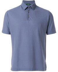 Zanone Short Sleeve Polo Shirt - Blue