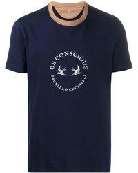 Brunello Cucinelli Be Conscious Tシャツ - ブルー
