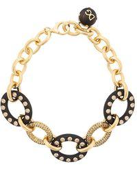 Dolce & Gabbana クリスタル ネックレス - ブラック