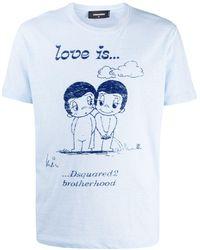 DSquared² - スローガン Tシャツ - Lyst
