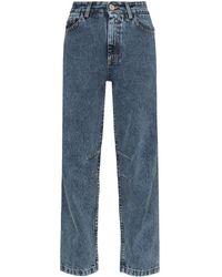 Matthew Adams Dolan Faded-effect High-rise Jeans - Blue