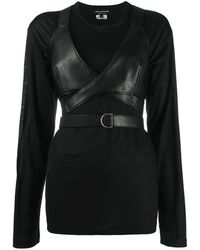 Junya Watanabe コルセット Tシャツ - ブラック