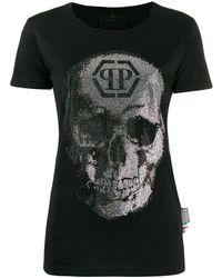 Philipp Plein ラインストーン Tシャツ - ブラック