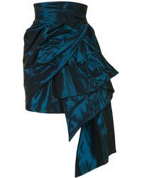The 2nd Skin Co. Minigonna drappeggiata - Blu