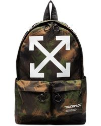 Off-White c/o Virgil Abloh Camouflage Print Backpack - Green