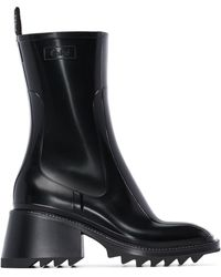 Chloé Botas de lluvia Betty de 50mm - Negro