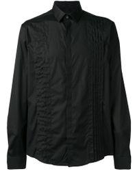 871815b3d374fb Saint Laurent Pleated Shirt in White for Men - Lyst