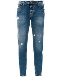 John Richmond - Printed Slim-fit Jeans - Lyst